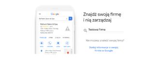 Google Moja Firma - nazwa firmy